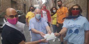 La Asociación de Peñas Mateas entrega al Banco de Alimentos de Cuenca parte de las cuotas de las peñas asociadas