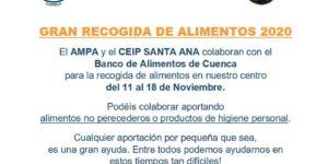 El AMPA del colegio Santa Ana se une a la gran recogida