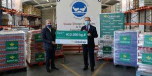 Globalcaja dona diez toneladas de productos al Banco de Alimentos
